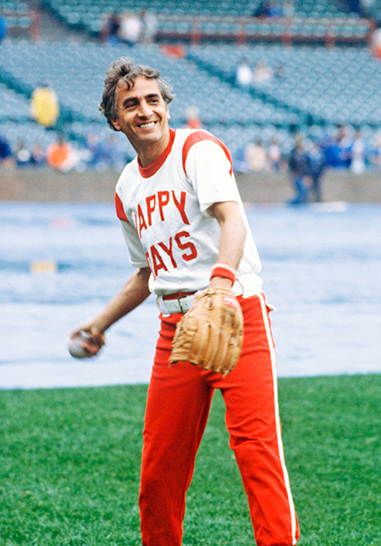 Garry Marshall at a Happy Days Baseball Game on August 21, 1979