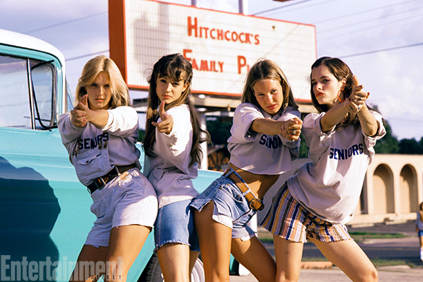 Dazed And Confused | AIR RAID! Deena Martin, Michelle Burke, Joey Lauren Adams, and Parker Posey strike a pose as the most intimidating batch of 18-year-old girls on the…