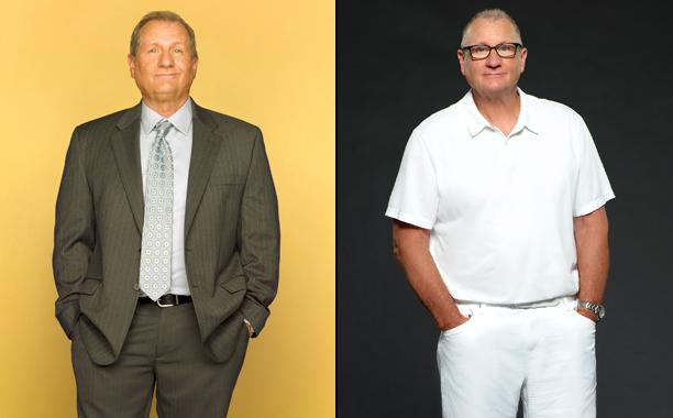 Ed O'Neill as Jay Pritchett in Season 1; Ed O'Neill as Jay Pritchett in Season 8