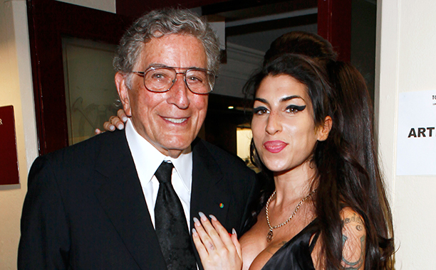 Amy Winehouse With Tony Bennett at the Afterparty for Bennett's Concert at Royal Albert Hall in London on July 1, 2010