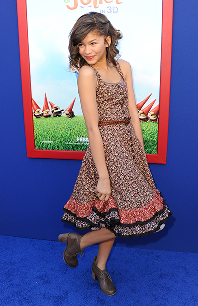 Zendaya at the Premiere of Gnomeo And Juliet in Hollywood on January 23, 2011