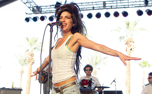 Amy Winehouse at the Coachella Valley Music and Arts Festival on April 27, 2007