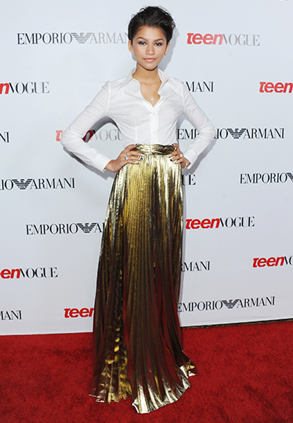 Zendaya at Teen Vogue's 10th Annual Young Hollywood Party on September 27, 2012