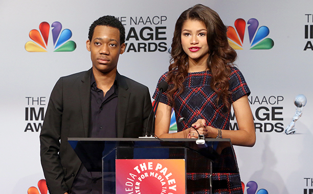 Zendaya With Tyler James Williams at the 44th NAACP Image Awards Nominations Announcement Press Conference on December 11, 2012