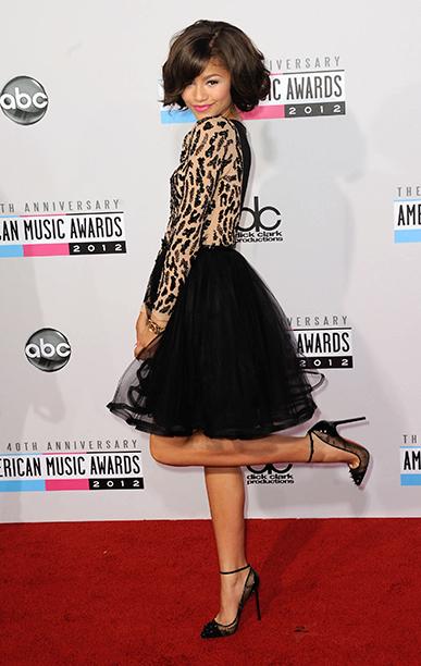 Zendaya at the 40th American Music Awards on November 18, 2012