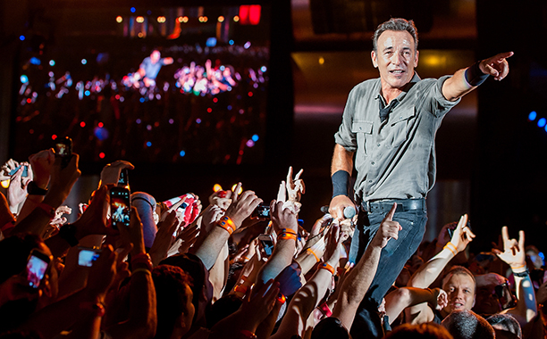 Bruce Springsteen Performing at the Rock in Rio Festival in Brazil on September 21, 2013