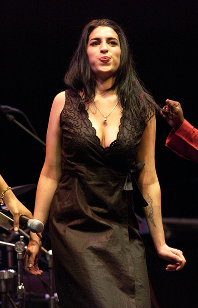 Amy Winehouse at the Barbican Theatre in London on April 5, 2004