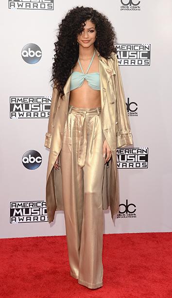 Zendaya at the 2014 American Music Awards on November 23, 2014