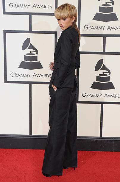 Zendaya at the 58th Grammy Awards on February 15, 2016