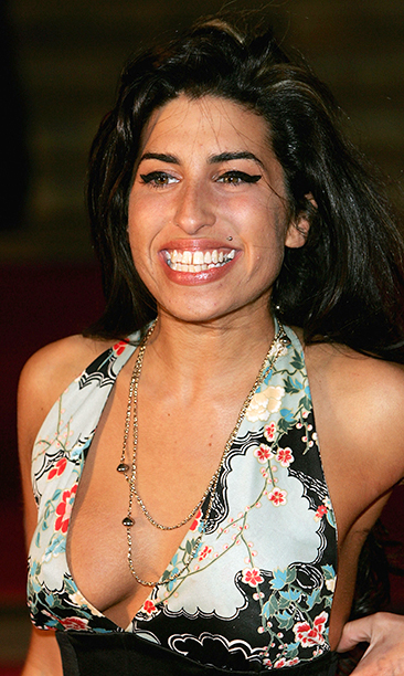 Amy Winehouse at the 25th Anniversary BRIT Awards in London on February 9, 2005