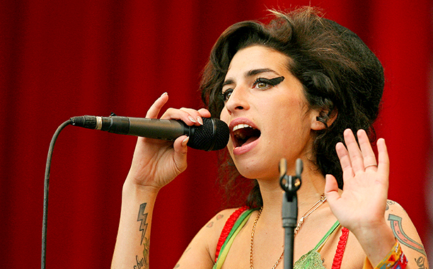 Amy Winehouse at the Glastonbury Festival on June 22, 2007