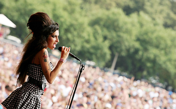 Amy Winehouse Performing at Lollapalooza on August 5, 2007