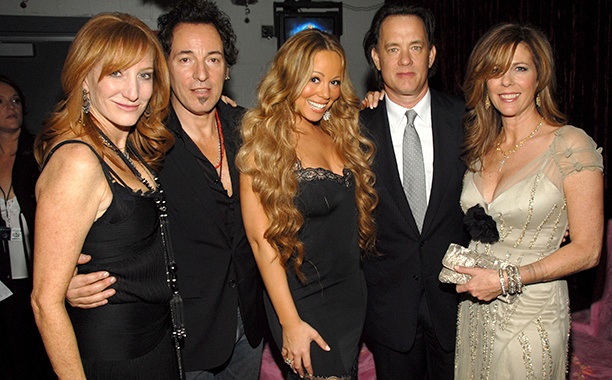 Bruce Springsteen With Patti Scialfa, Mariah Carey, Tom Hanks, and Rita Wilson at the 48th Annual GRAMMY Awards on February 8, 2006