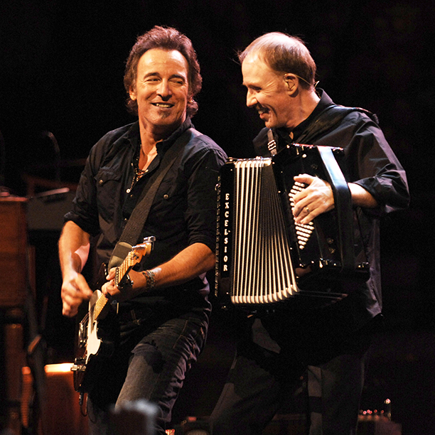 Bruce Springsteen With Danny Federici on the Magic Tour in Boston on November 19, 2007