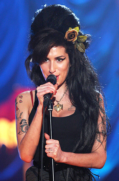 Amy Winehouse Performing at Riverside Studios for the 50th Grammy Awards on February 10, 2008