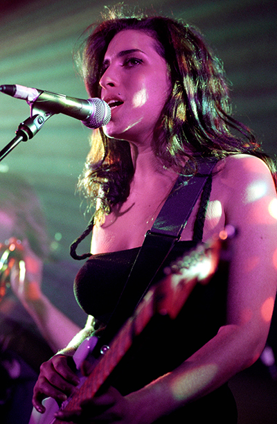 Amy Winehouse Performing at Bush Hall in London on December 2, 2003
