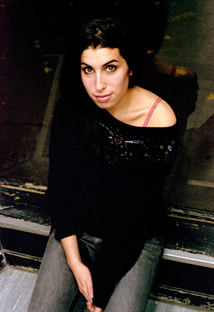 Amy Winehouse in North London in February 2003