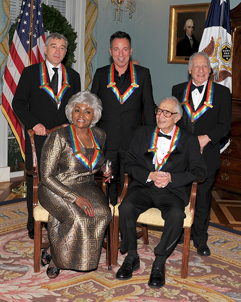 Bruce Springsteen With Grace Bumbry, Dave Brubeck, Robert De Niro, and Mel Brooks at the Kennedy Center Honors in Washington, D.C. on December 5, 2009