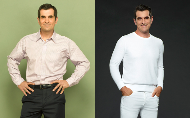 Ty Burrell as Phil Dunphy in Season 1; Ty Burrell as Phil Dunphy in Season 8