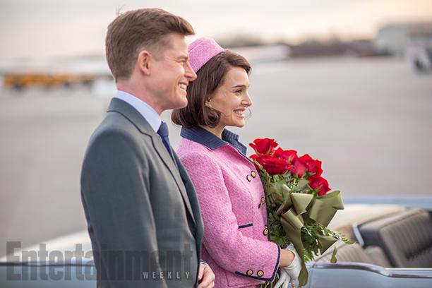 Caspar Phillipson as John F. Kennedy and Natalie Portman as Jacqueline Kennedy in 'Jackie'