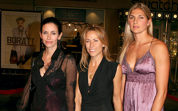 Courteney Cox, Sheryl Crow, and Gabrielle Reece