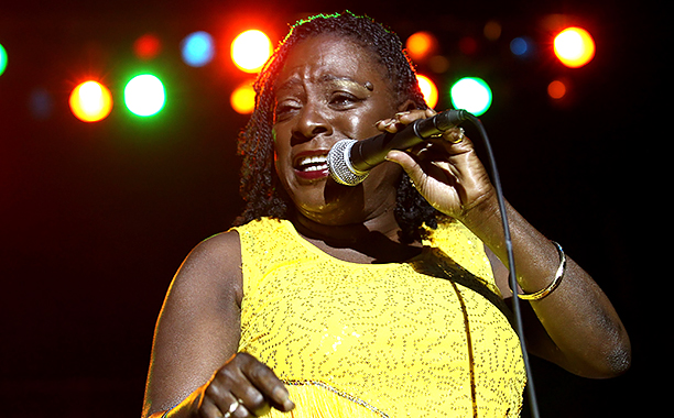 GALLERY: Stars We Lost in 20 ALL CROPS: 150465010 Sharon Jones & the Dap Kings perform during the 2012 Lacoste L!ve Concert Series at the Williamsburg Waterfront on August 18, 2012 in the Brooklyn borough of New York City. (Photo by Steve Mack/WireImage)