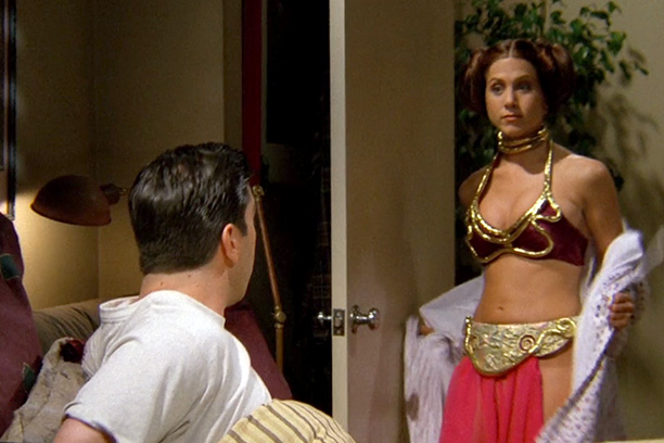 Jennifer Aniston as Friends' Rachel Green as Princess Leia