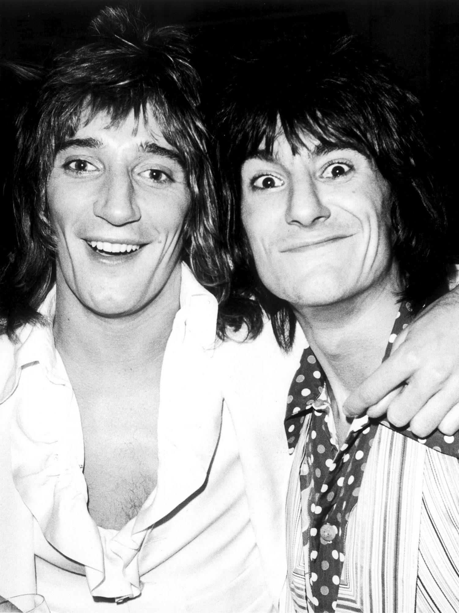 Rod Stewart and Ronnie Wood