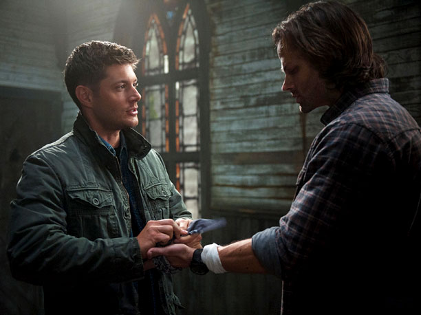 Season 8, episode 23 In one of the greatest brother moments of all time, Dean begs Sam to stop the third trial because, even though…