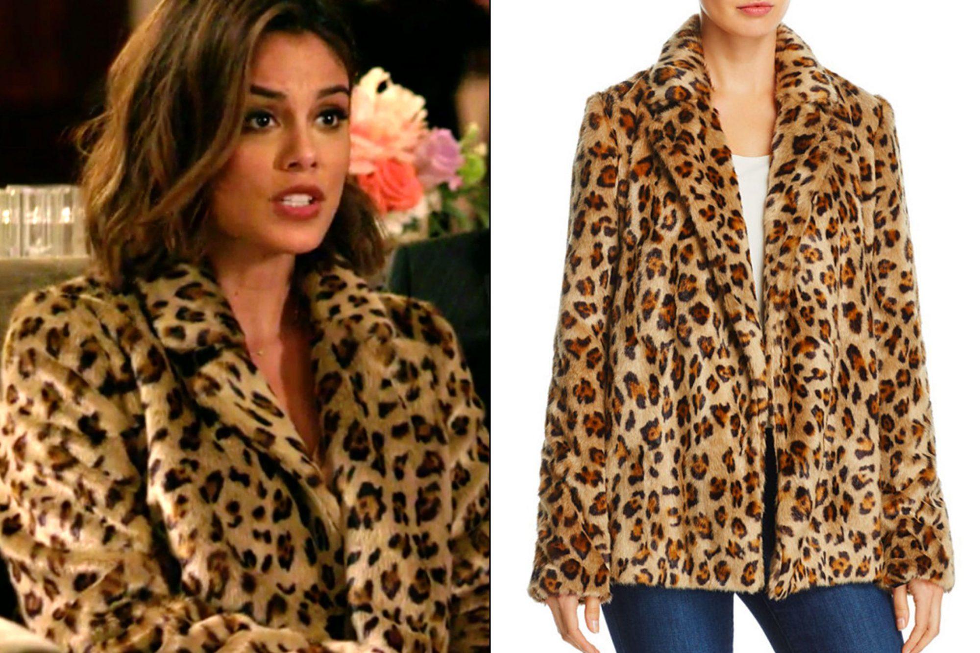 Cristal Flores' (Nathalie Kelley) leopard print coat on Dynasty