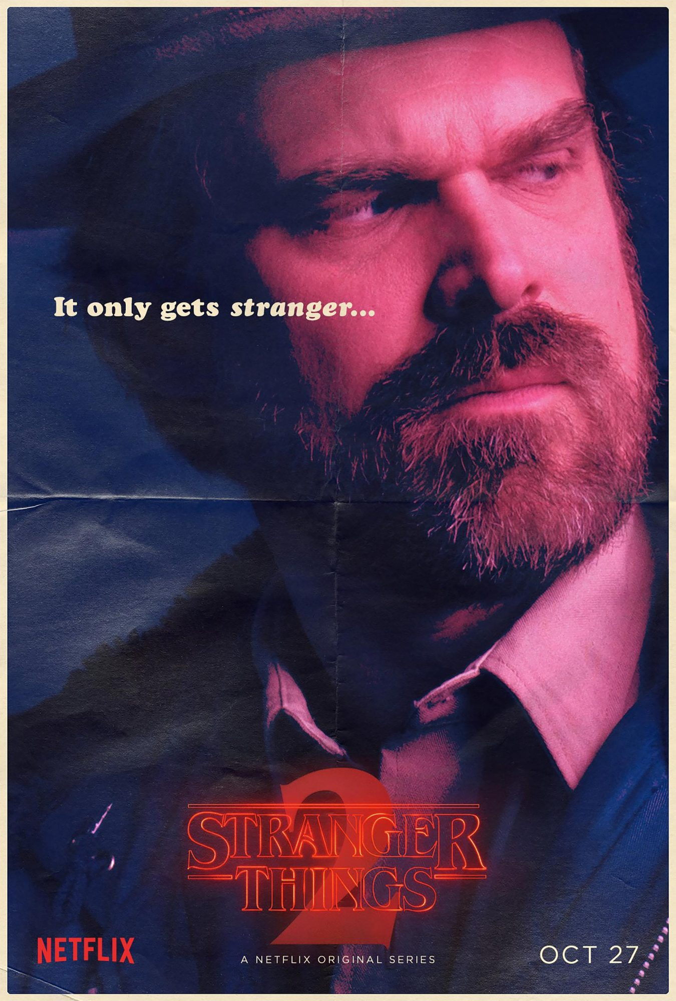 Stranger Things Season 2 - David Harbour CR: Netflix