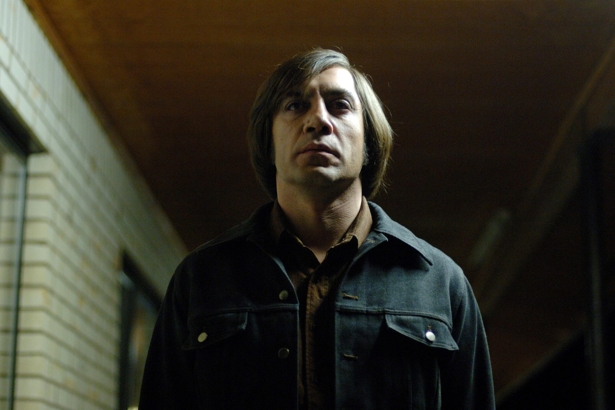 NO COUNTRY FOR OLD MEN (2007) Javier Bardem as Anton Chigurh