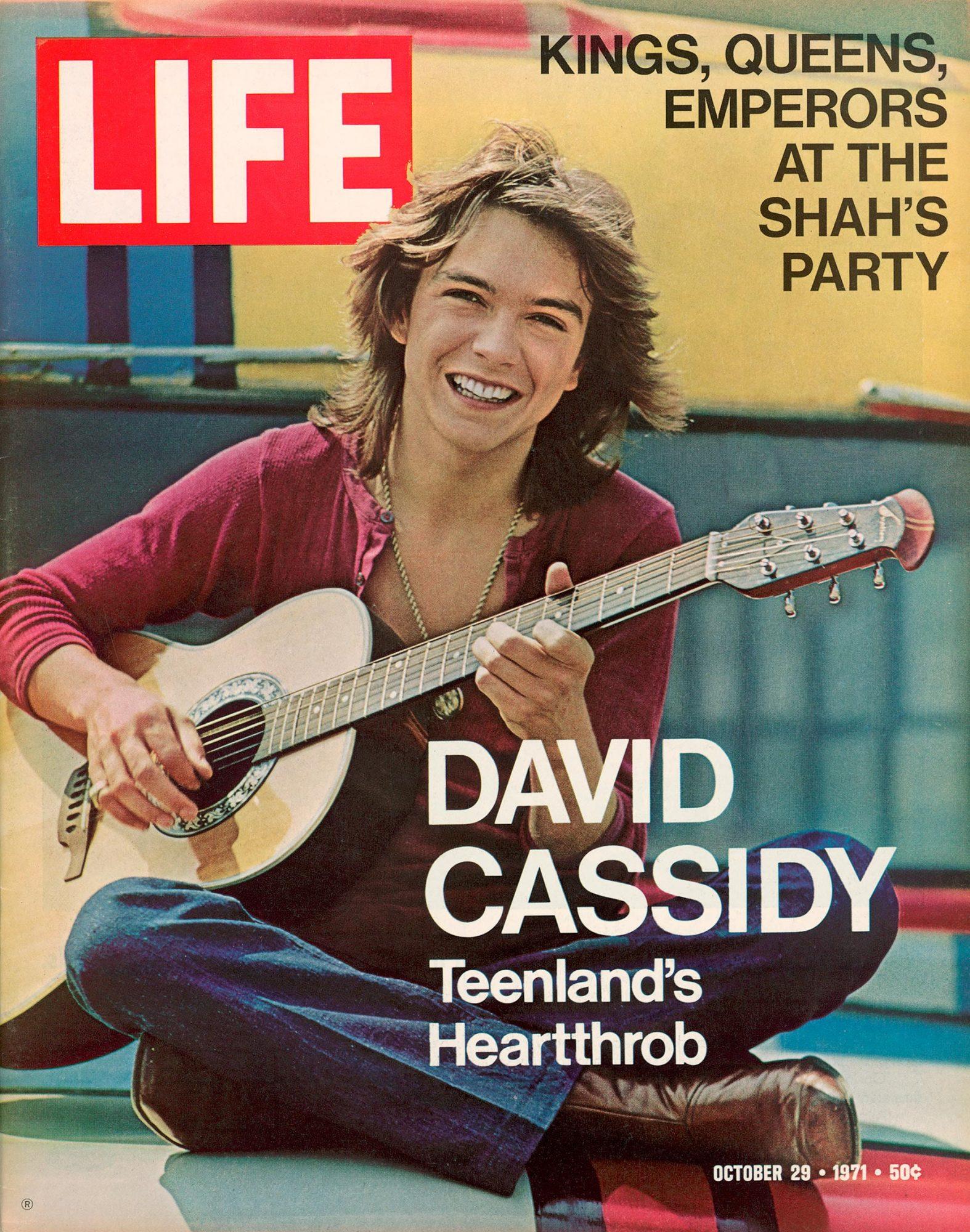 LIFE cover 10-29-1971 TV star David Cassidy.
