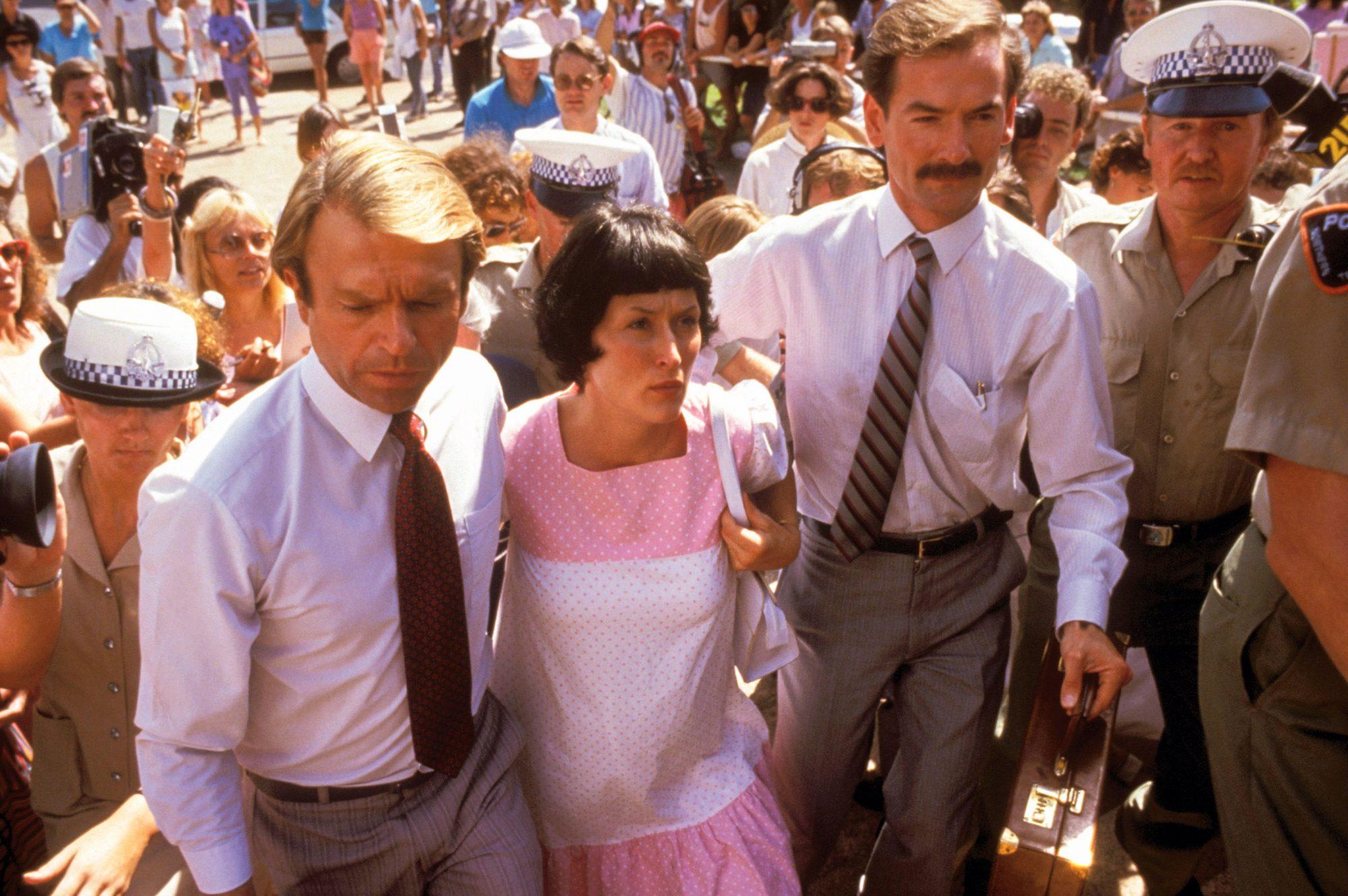 A CRY IN THE DARK, Sam Neill, Meryl Streep, 1988, (c) Warner Brothers/courtesy Everett Collection