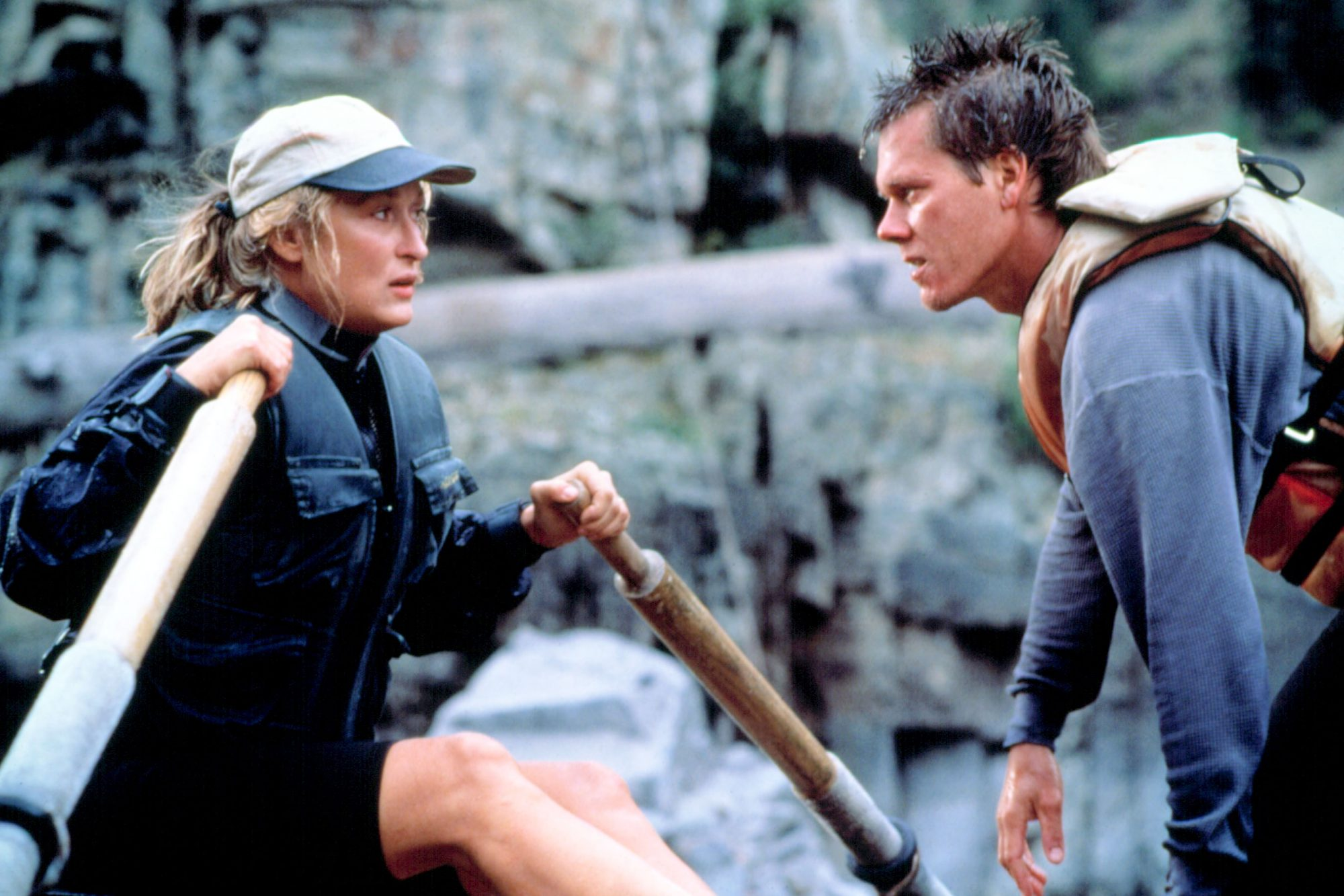 THE RIVER WILD, Meryl Streep, Kevin Bacon, 1994, (c) Universal/courtesy Everett Collection