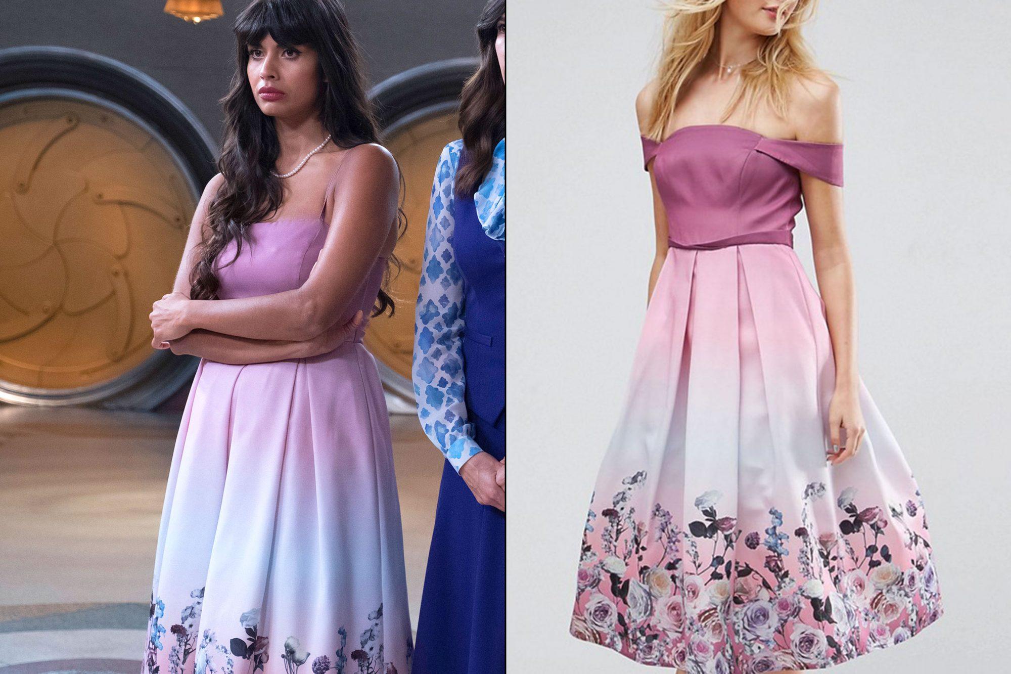 Tahani's (Jameela Jamil) floral dress on The Good Place