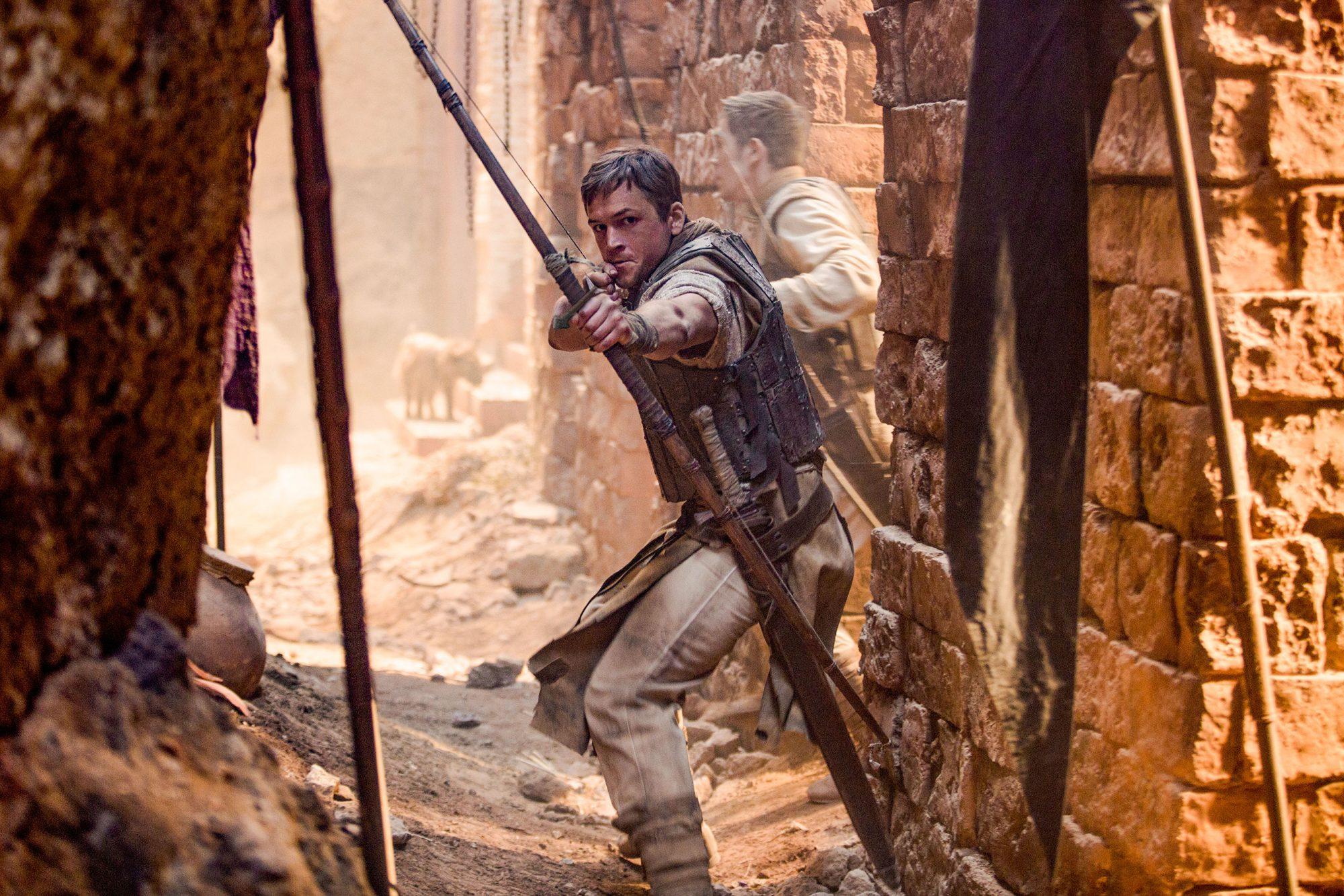 Taron Egerton stars as 'Robin' in ROBIN HOOD. Photo Credit: Larry Horricks/Lionsgate