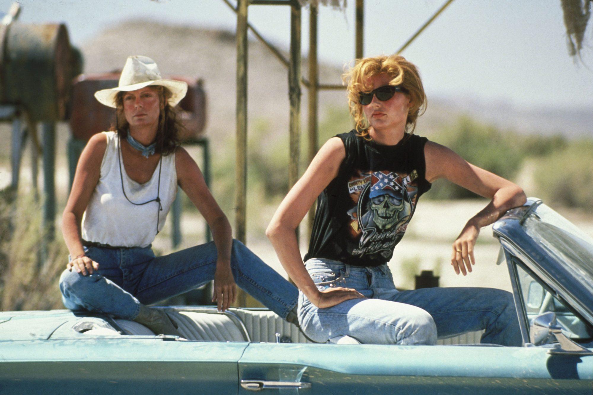 THELMA & LOUISE, Susan Sarandon, Geena Davis, 1991. © MGM/ Courtesy: Everett Collection
