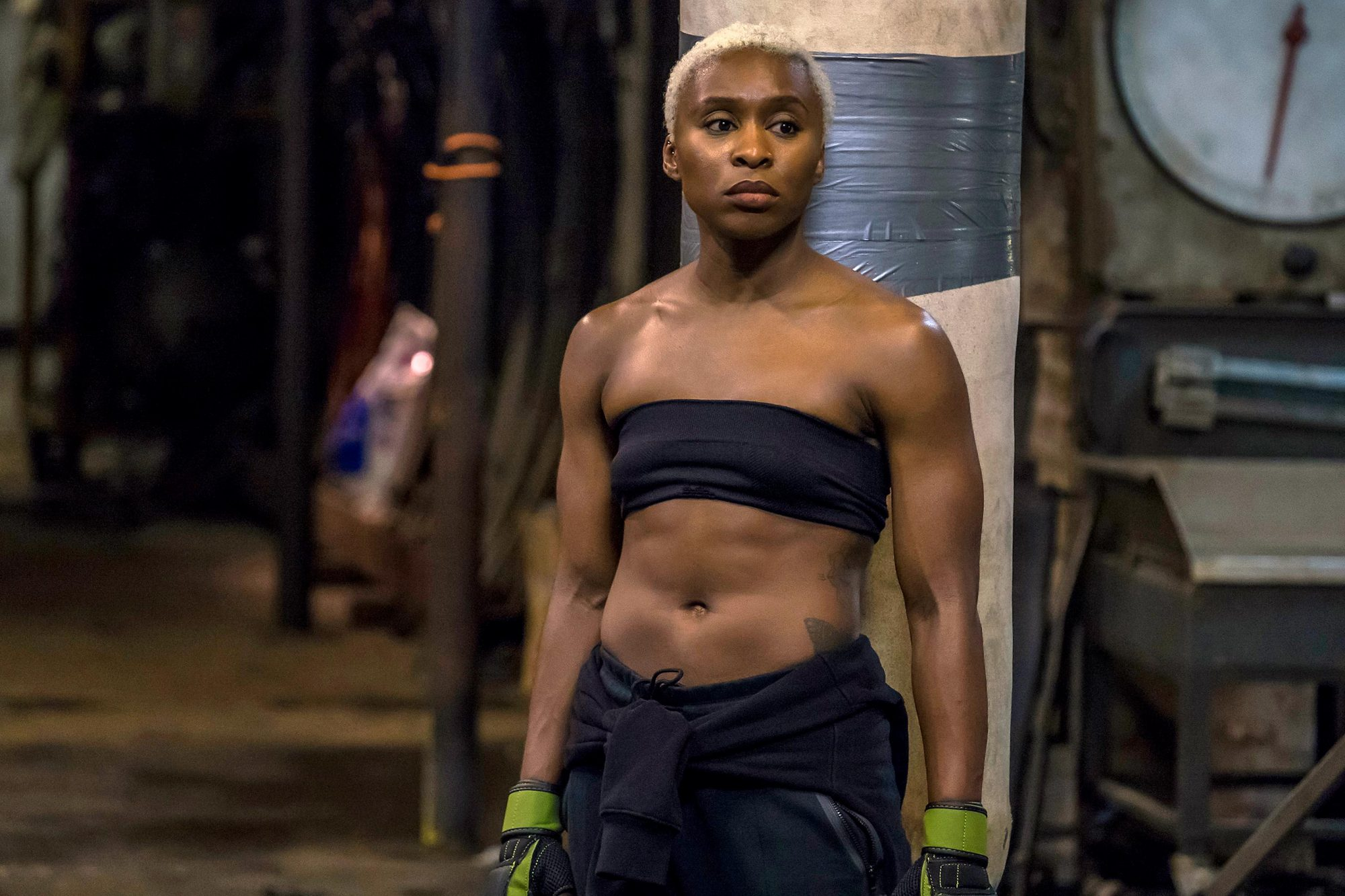 Stills of the film Widows featuring Cynthia Erivo