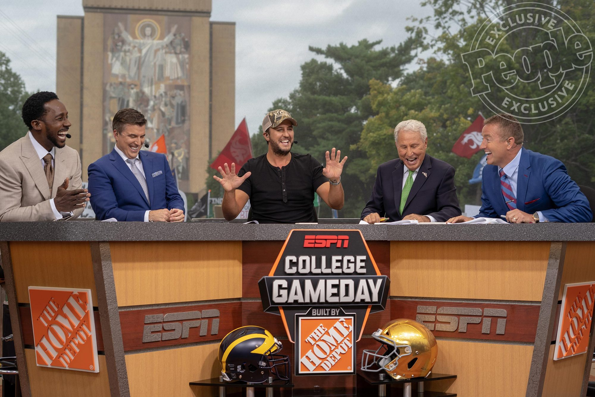 LUKE BRYAN and GAMEDAY CREW