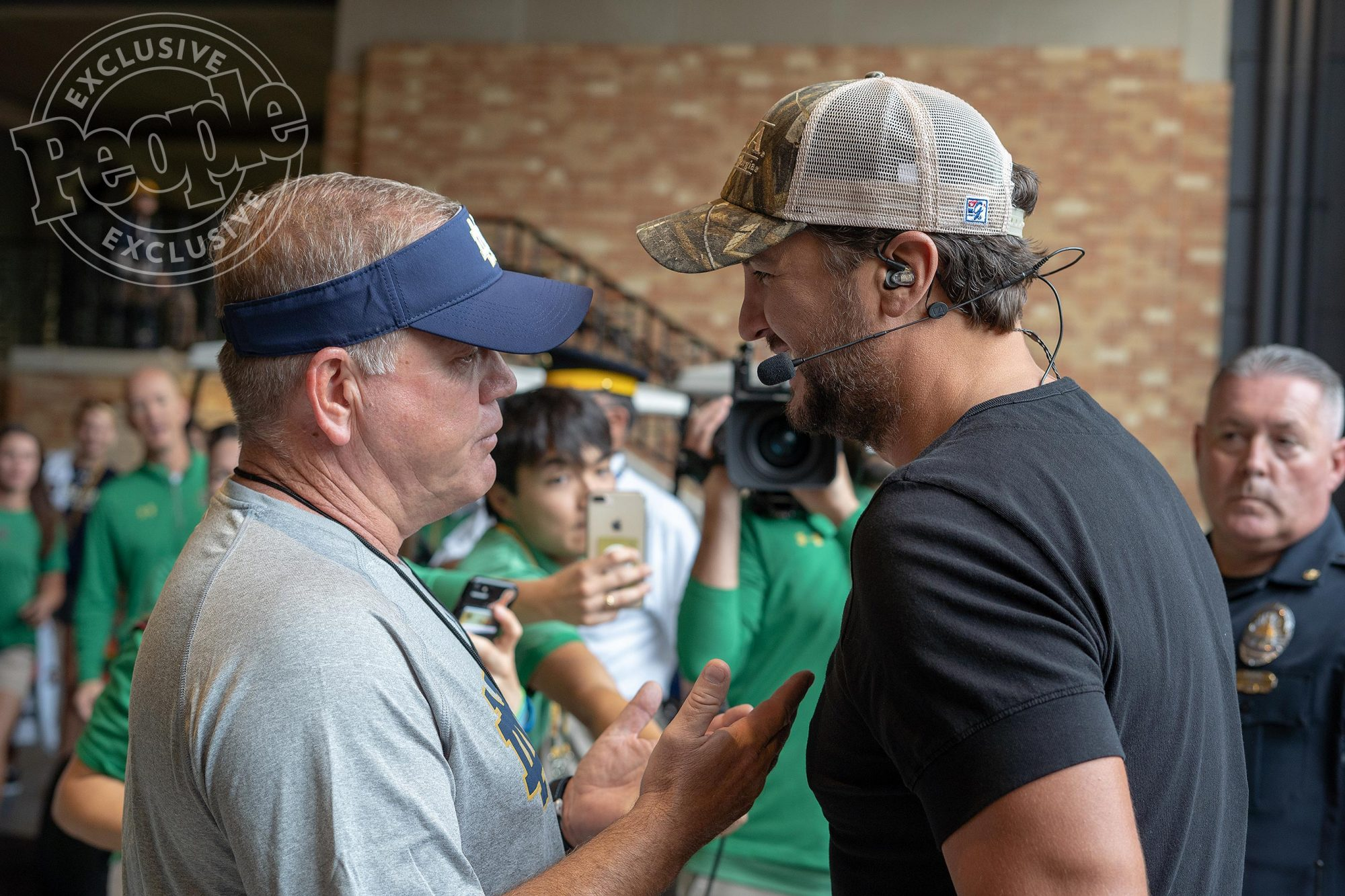 COACH KELLY and LUKE BRYAN