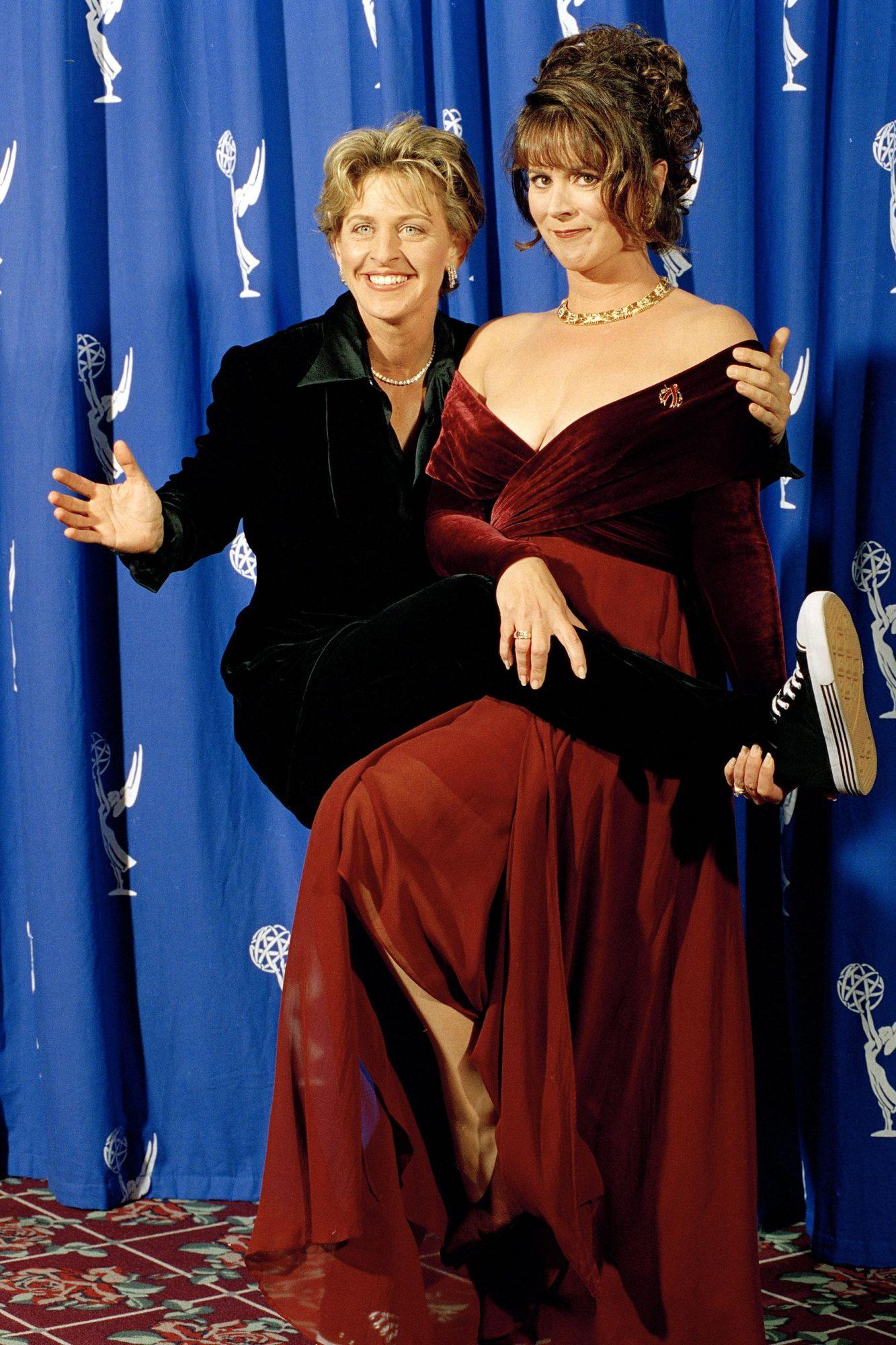 Emmys Co-Hosts DeGeneres Richardson, Pasadena, USA