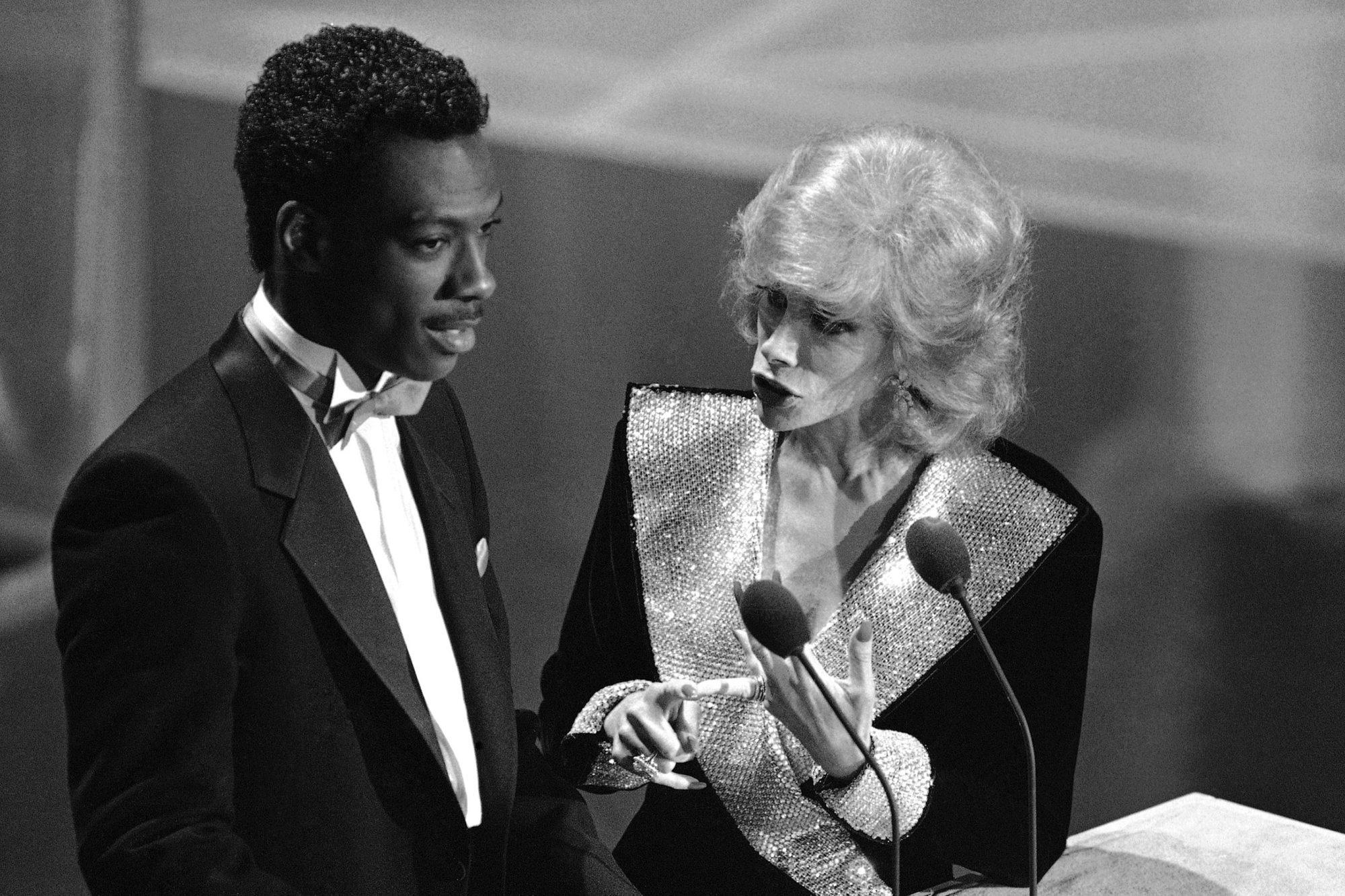 Joan Rivers and Eddie Murphy Emmy Award 1983, Pasadena, USA