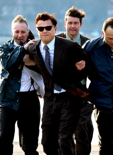 Nov. 29: Leonardo DiCaprio filming The Wolf Of Wall Street in New York (photo taken on Nov. 28)