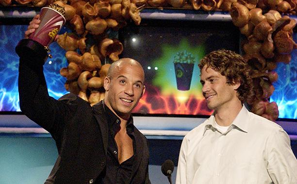 Paul Walker With Vin Diesel at the 2002 MTV Movie Awards on June 1, 2002