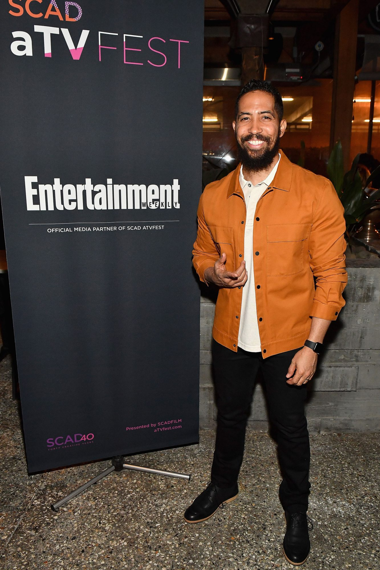 Neil Brown Jr. (SEAL Team) at the SCAD aTVfest and Entertainment Weekly party at Lure