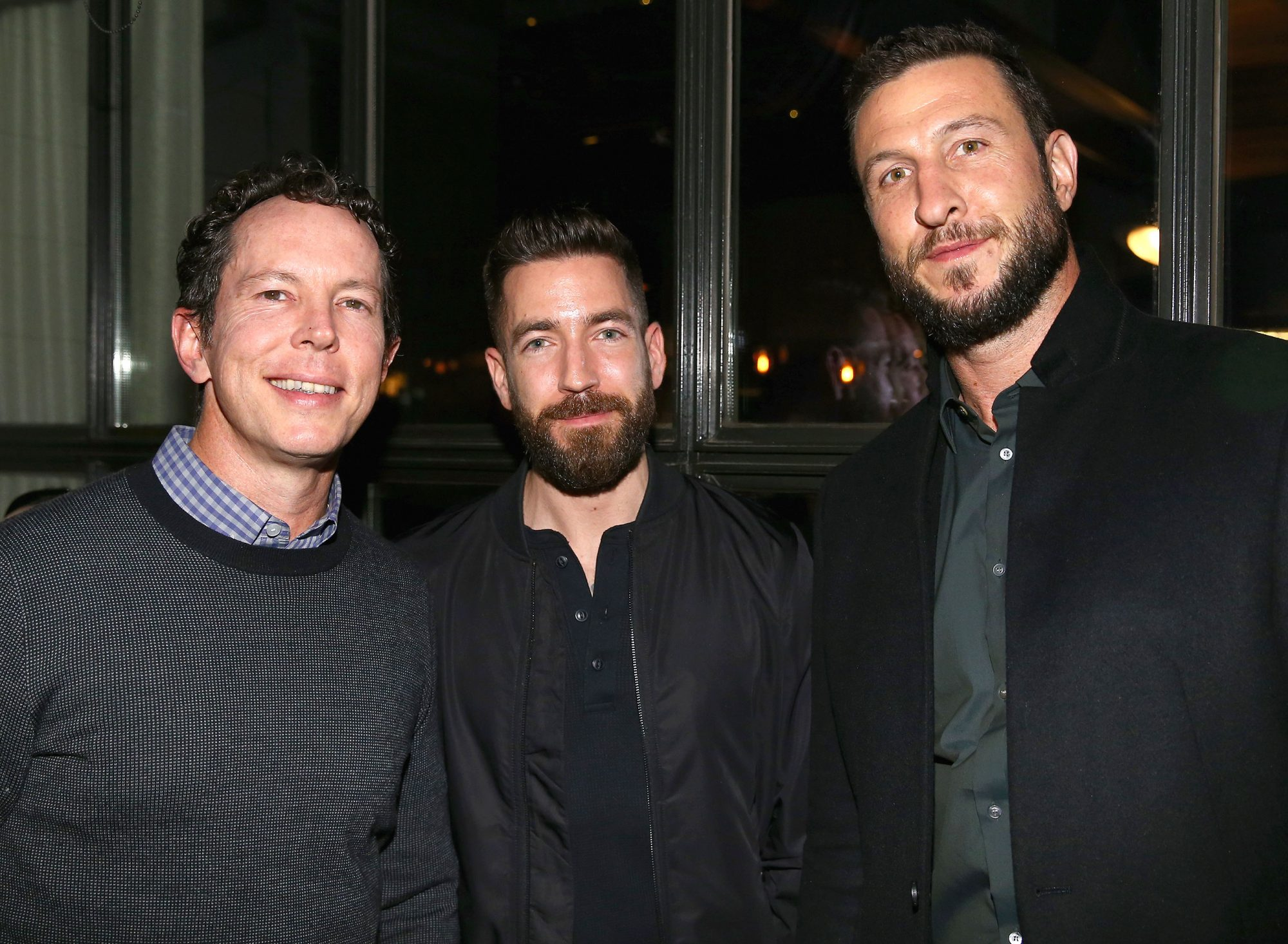 The Gifted showrunner Matt Nix (left) and American Gods star Pablo Schreiber (right) at the SCAD aTVfest and Entertainment Weekly party at Lure