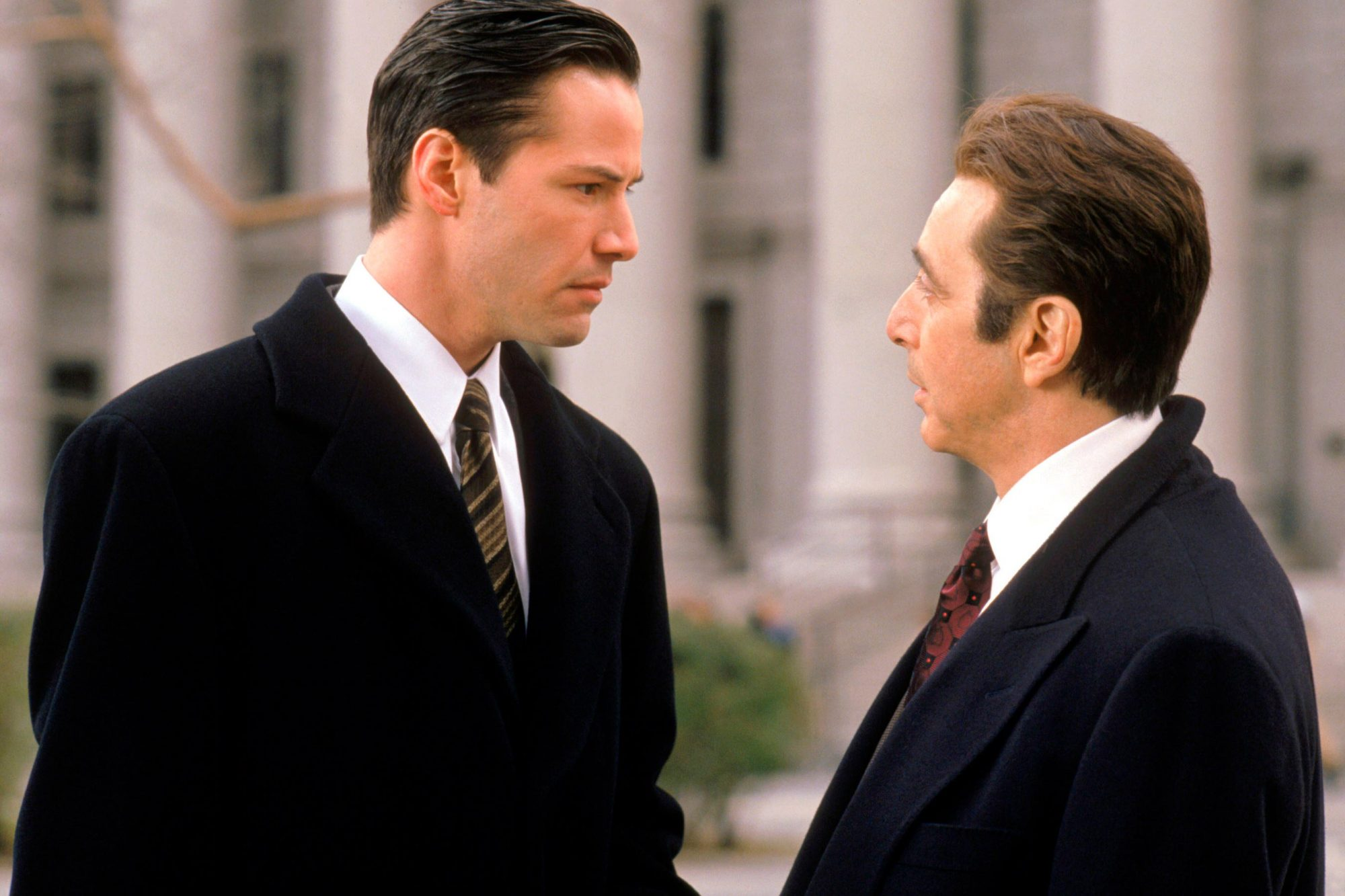 THE DEVIL'S ADVOCATE, from left: Keanu Reeves, Al Pacino, 1997, ©Warner Bros./courtesy Everett Colle