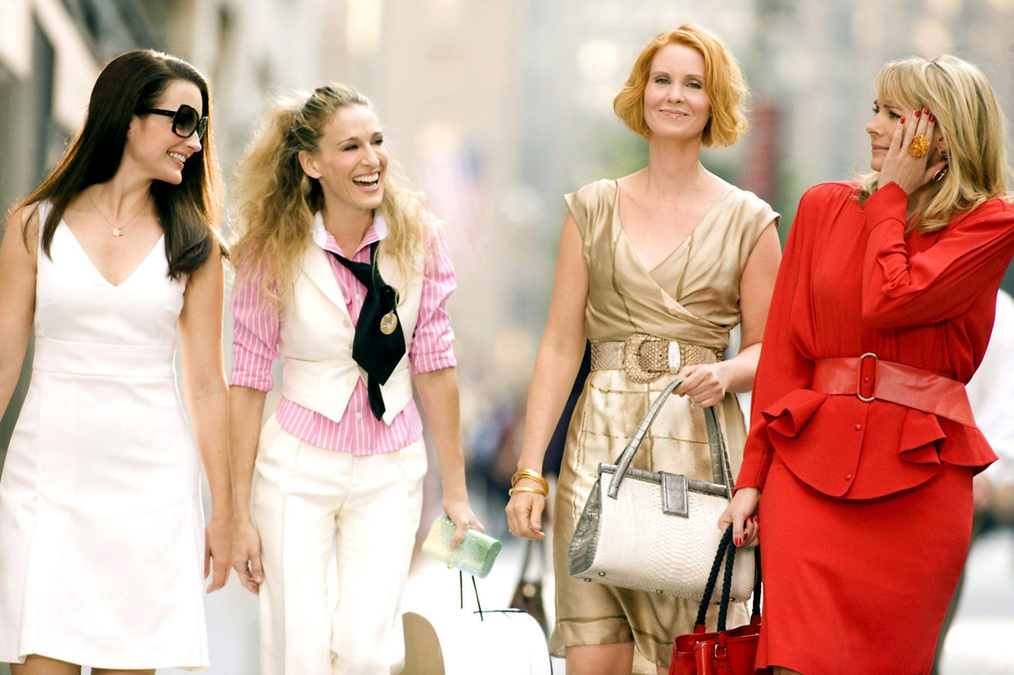 SEX AND THE CITY: THE MOVIE, Kristin Davis, Sarah Jessica Parker, Cynthia Nixon, Kim Cattrall, 2008.