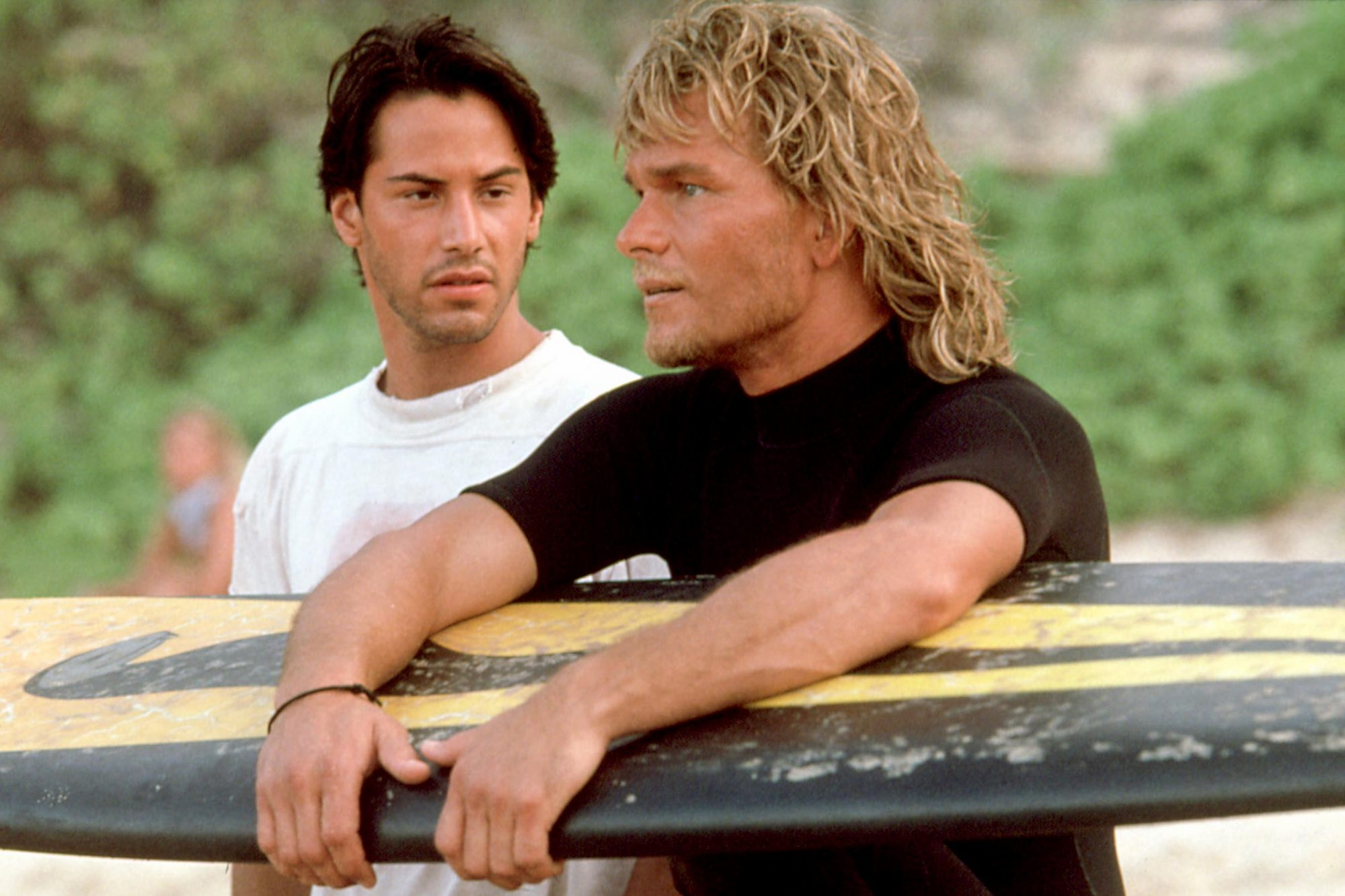 POINT BREAK, Keanu Reeves, Patrick Swayze, 1991. TM and Copyright (c) 20th Century Fox Film Corp. Al